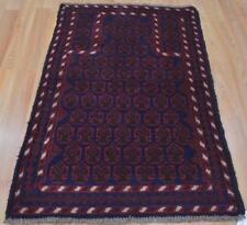 2'6x4'10 Pakistani Balouch Turkoman Tribal Prayer Handmade Oriental All Wool Rug