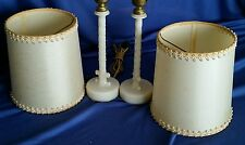 Pair Vintage Aladdin Table Lamps Candlestick Bedroom Bedourie Alacite Shades