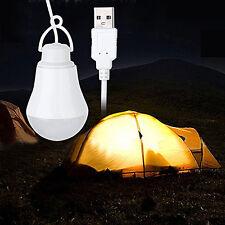 5V 5W Bombilla USB de Camping Casa de emergencia Bombilla LED