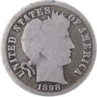 1897-P,1898-P,1899-P 10c Barber Dime Last Three of the 19th Century-Circulated