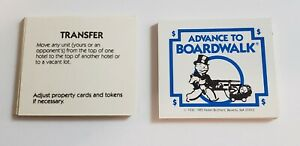 Vintage 1985 Advance to Boardwalk Board Game Replacement Piece28 Fortune Cards
