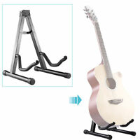 Classic Adjustable Musician's Gear A-Frame Acoustic Guitar Stand Black 2016 New