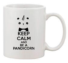 Keep Calm And Be A Pandicorn Panda Unicorn Horn Funny Ceramic White Coffee Mug