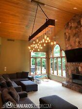 log cabin lighting, rustic cabin lighting, industrial chandelier, rustic light