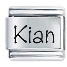 KIAN Name - Daisy Charm by JSC Fits Classic Size Italian Charms Bracelet