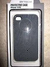 Protective Case for iPhone 4/4S Black/Gray Line Pattern