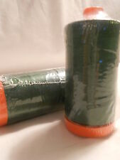 Aurifil Cotton Mako 50wt Quilting Thread-2892 Pine Green-1422 yard spool