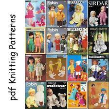 TRICOT & CROCHET Patterns for baby dolls & Poupées BARBIE & BAZAR jouets sur DVD