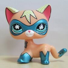 Littlest Pet Shop Collection LPS Figure Toy Super Hero Short Hair Kitty Cat