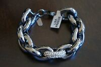NEW Celeb Designer Lisa Freede Lower Manhattan Crystal Gunmetal Chain Bracelet
