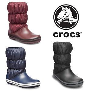Crocs Winter Puff Doublé Chaud Hiver Neige Souple Mode Femmes Bottes Taille 4-9