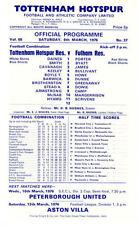 Teams S-Z Tottenham Hotspur Reserves Football Programmes