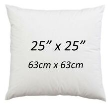 """25"""" x 25"""" Cushion Pads Hollowfibre NonAllergic Cushion Inserts 25 Inch-Pack of 4"""