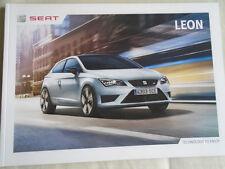 Seat Leon range brochure Oct 2014