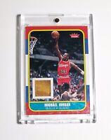 Michael Jordan 2007-08 Fleer Retro 1986-87 Game Use Trading Card