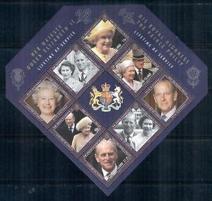 ASCENSION 1023 MNH 2011 QEII & Prince Philip Lifetime Souvenir Sheet Cat$7