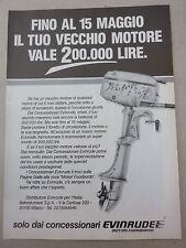 ADVERTISING PUBBLICITA'  EVINRUDE MOTORI FUORIBORDO c'è sempre un affare  --1989