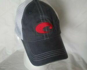 Costa - Denim Grey White Red Logo Baseball Adjustable Hat - Brand New!