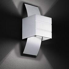 Wofi Wandleuchte Via 1-flg Alu gebürstet Modern Leuchte Lampe 33 Watt 460 Lumen