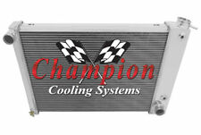 4 Row SR Champion Radiator for 1967 68 1969 Chevrolet Camaro Big Block V8 Engine