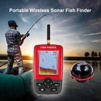Wireless LCD Fishfinder 100M Fish Size Depth Temprature Sonar Sensor Transducer