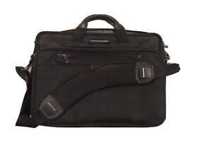 """Briggs & Riley 17"""" Travelware Black Shoulder Bag Laptop Messenger"""