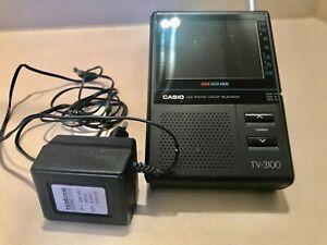 Seltener Casio TV -3100 Handheld Farbfernseher 3,3 LCD