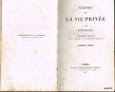 BALZAC ÉTUDES DE MŒURS AU XIXe SIÈCLE LA RECHERCHE DE L'ABSOLU ÉDITION ORIGINALE