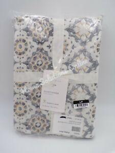Pottery Barn June Print Duvet Cover Neutral Multi Full Queen #9772D