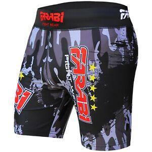 Farabi vale tudo shorts MMA grappling fight training match compression tight
