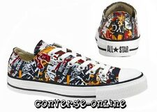 Women Boy CONVERSE All Star CLUB WALL MULTI GRAFFITI OX Lo Trainers 35 SIZE UK 3