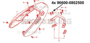 Honda CB1100SF X11 stainless steel passenger grab rail handle bolts kit