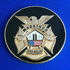 Marathon Fire Rescue Florida Firefighter 9/11 Memorial Tribute Challenge Coin