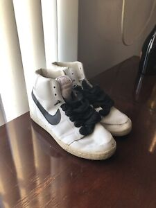 Vintage 1982 Nike Blazers Leather Retro Punk Hipster Sneakers