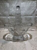 Vintage Crystal Basket With Handle, Gifts, Candy Dish, Mid-century Glassware