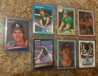 7) Jose Canseco 1986 1987 Donruss Fleer Topps Rookie card lot RC See description