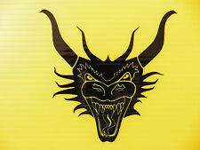 Dragon head demon monster car sticker decal fridre laptop window Code 5309 black