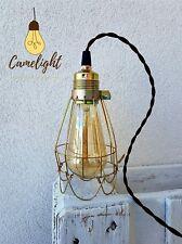 Lampada stile industriale_gabbia_vintage rustico_pub_retrò_antico +lampadina