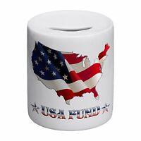 USA Fund Novelty Ceramic Money Box