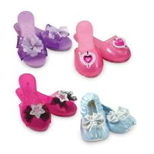 Kids Dress Up Shoes Girl Pretend Play Set 4 Pair Princess Toddler Gift NEW