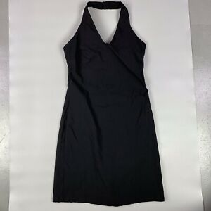PIMKIE LADIES SIMPLE BLACK BACKLESS CLASSIC HALTER-NECK DRESS, Approx Size S*
