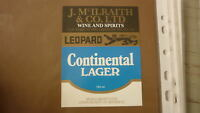 OLD NZ NEW ZEALAND BEER LABEL, LEOPARD BREWERY HASTINGS, McILRAITH WINES