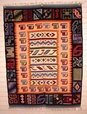 Tapestry Alpaca/Wool Tapestry Face and Cat Symbols Handmade in Peru