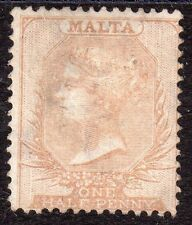 Victorian (1840-1901) Mint Hinged Maltese Stamps (Pre-1964)