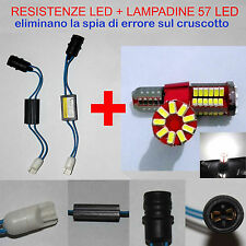 LUCI POSIZIONE GRANDE PUNTO KIT RESISTENZE + LAMPADINE 57 LED T10 W5W NO ERRORE