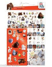 Papier de projets de la vie secrete des animaux de compagnie multi pack réutilisable foil craft stickers age3+