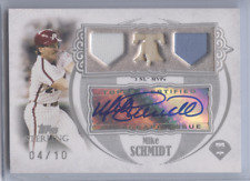 MIKE SCHMIDT 2007 TOPPS STERLING AUTO TRIPLE RELIC /10 PHILLIES