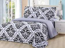 Dream Bedding Reversible Pinsonic Rich Printed 6 Pieces Quilt and Sheet Set