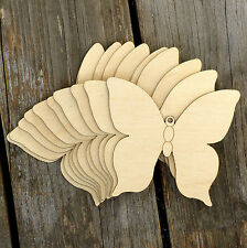 10x Wooden Simple Butterfly Style E Craft Shapes 3mm Plywood Insect and Wildlife