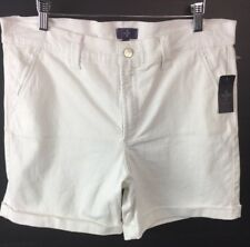 Not Your Daughters Jeans NYDJ 14p Petite Avery Shorts White P77z1160 Cuffed A8
